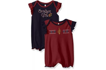 (Cleveland Cavaliers, 3-6 Months, Burgundy) - NBA by Outerstuff NBA Newborn & Infant Homecoming 2pc Bodysuit Set