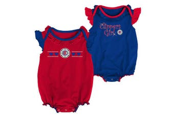 (Los Angeles Clippers, 12 Months, Red) - NBA by Outerstuff NBA Newborn & Infant Homecoming 2pc Bodysuit Set