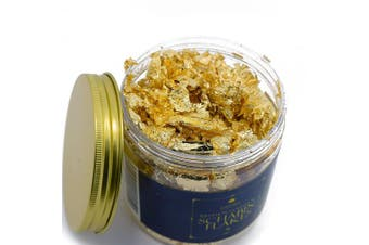 (7 grammes, Imitation Gold Schabin) - Imitation Gold Leaf Schabin Flakes Metallic Foil Flakes for Gilding, Painting Arts and Crafts (7g)