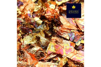 (5 grammes, Variegated Imitation Gold) - Variegated Imitation Gold Leaf Schabin Flakes Metallic Foil Flakes for Gilding, Painting Arts and Crafts (5g)