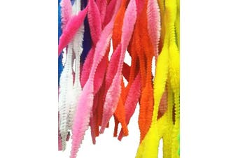 (Multicolor) - Carykon Pack of 100 Pipe Cleaners Fuzzy Bumpy Chenille Stems for Creative Handmade DIY Art Craft (Multicolor)
