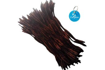 (Brown) - Carykon Pack of 100 Pipe Cleaners Fuzzy Bumpy Chenille Stems for Creative Handmade DIY Art Craft (Brown)