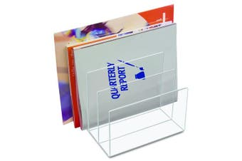 (File Sorter) - Kantek Acrylic File Sorter, 20cm Wide x 17cm Deep x 19cm High, Clear (AD45)