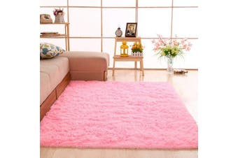 (Pink) - gdmgdr Ultra Soft and Fluffy Nursery Rugs 4cm High Pile Area Rugs for Bedroom and Living Room 1.2m x 1.6m, Pink