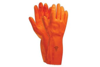 (Large) - Ansell Heavyweight 208 Extra Heavy-Duty Rubber Gloves, Large