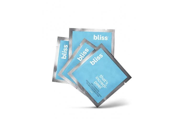 bliss That's Incredi-peel Glycolic Resurfacing Pads | Spa-Strength, Targets Fine Lines & Dark Spots | Single-Step, No-Rinse | Paraben Free, Cruelty Free | Travel Size - 5 Pads