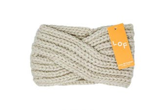 (Twisted-Ivory) - by you Women's Soft Knitted Winter Headband Head Wrap Ear Warmer (Twisted-Ivory)