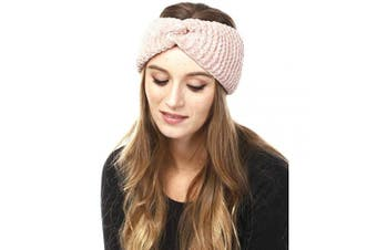 (Chenille-Pink) - by you Women's Soft Knitted Winter Headband Head Wrap Ear Warmer (Chenille-Pink)