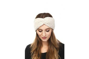 (Chenille-Ivory) - by you Women's Soft Knitted Winter Headband Head Wrap Ear Warmer (Chenille-Ivory)