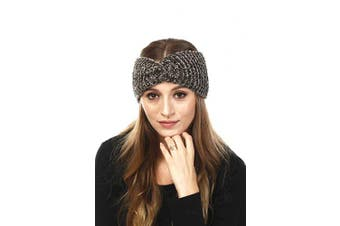 (Chenille-Olive) - by you Women's Soft Knitted Winter Headband Head Wrap Ear Warmer (Chenille-Olive)