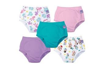 (3+ Years, Mixed Girl Magical Kingdom) - Bambino Mio 5 Piece Potty Training Pants, Mixed Girl Magical Kingdom, 3+ Years