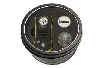 (Pittsburgh Steelers) - Team Golf NFL Tin Gift Set with Switchfix Divot Tool, Cap Clip, and Ball Marker