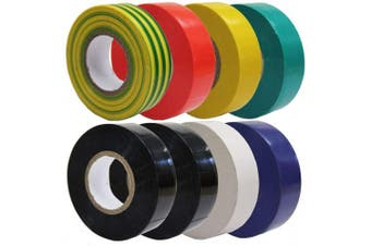 All Trade Direct 8 X Mixed Colour Electrical Insulation Tape 20M Professional British Standard by All Trade Direct