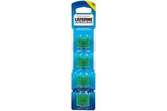 Listerine Ultraclean Access Flosser Refill Heads, Mint, 28 Disposable Heads Per Package (5 Pack)
