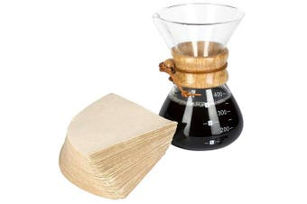Pour Over Coffee Maker - with 100 Paper Filters - by LVKH (400ml, 1 Cup)