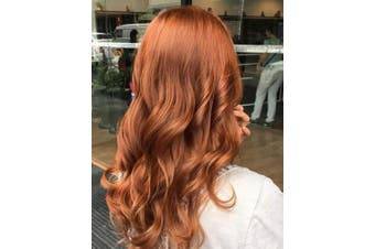 (60cm , Natural Wave,Red#350) - BLUPLE Natural Wavy Lace Front Wigs Women's #350 Copper Red Heat Resistant Synthetic Hair Half Hand Tied Wig Free Part for Halloween (60cm , Natural Wave,Red#350)