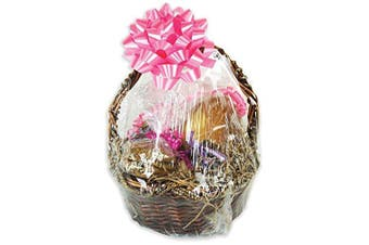 (60cm  x 60cm  - 5 bags) - Shrink-Rite Clear Dome Gift Basket Shrink Film Bags 60cm x 60cm - 5 Bags - Value Packed