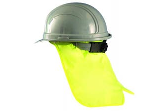 (Yellow (High Visibility)) - Occunomix 971-HVY Hard Hat Neck Shade, Yellow (High Visibility)