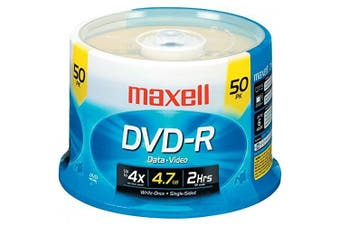 Maxell 16X Speed Branded DVD-R Spindle