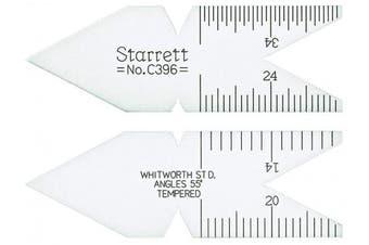 Starrett C396 Whitworth Or English Standard 55 Degree Centre Gauge, Satin Chrome Finish