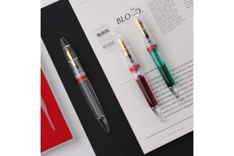 (Fine) - Moonman Fountain Pen ;Eye Dropper Filling; Clear Transparent Acrylic Demonstrator; Huge Ink Capacity; Fine Nib; Pocket Pen Gift Set