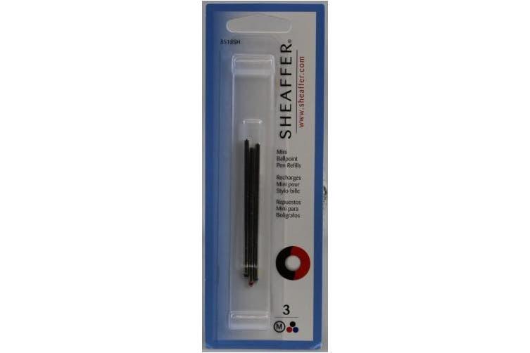 SHEAFFER 8518SH Original Universal Medium Nib Ballpoint Refill Pen - Black/Blue/Red