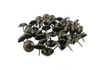 "(25x25mm) - Ogrmar 50PCS Round Large-Headed Nail/Antique Upholstery Nails/Furniture Tacks 1"" Diameter Antique Brass (25x25mm)"