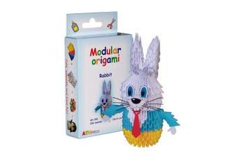 Modular Origami 336-Piece Small Rabbit Paper Set, Multi-Colour