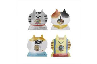 (Cat) - Aimeio Super Cute Cartoon Animals Transparent PVC Stickers for Diary Calendar Albums Decoration Scrapbook Planner Journal Child DIY Toy School Office Supplies (Cat)