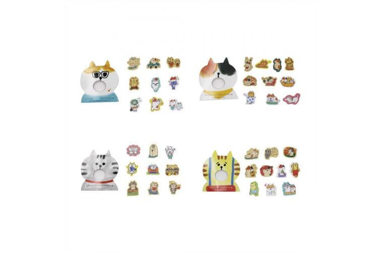 (Cat) - Aimeio Super Cute Cartoon Animals Transparent PVC Stickers for Diary Calendar Albums Decoration Scrapbook Planner Journal Child DIY Toy School Office Supplies (Cat)