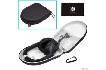 (Travel Case) - CamKix Protective Storage Case for Bose QuietComfort/SoundTrue / SoundLink Around-Ear Headphones - Mesh Pocket - Dual Zipper and Carabiner - Models: QC35 II, QC35, QC25, QC15, QC2, AE2, AE2I, AE2W