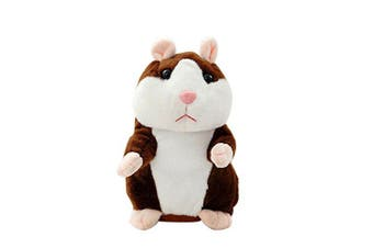 Plush Interactive Toys PRO Talking Hamster Repeats What You Say Electronic Pet Chatimals Mouse Buddy for Boy and Girl, 14cm x 7.6cm