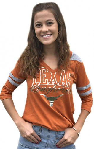 University of Texas Authentic Apparel NCAA Womens Texas Elezar Long Sleeve Tee