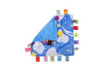 Baby Boy Tags Security Blanket - Newborn Comforter Security Blanket, Taggies Blanket Best Gift for Baby Boy - Starry Sky