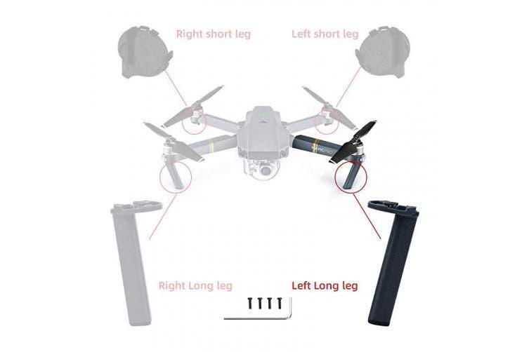 (Left Front Leg) - HeiyRC Landing Gear Kits for DJI Mavic Pro,Left Front Leg for Repairing,Replacement Foot Kits
