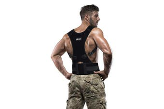 """(L 30"""" to 36"""" Waist) - Copper Compression Posture Corrector - Guaranteed Highest Copper Content Adjustable Posture Support. Back Brace Men and Women Supports Correct Posture Upper and Lower Back Lumbar. (Large) Waist 30-36"""