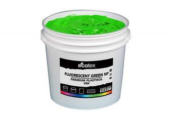 (Quart) - Ecotex Fluorescent Green NP-Plastisol Ink for Screen Printing - Non Phthalate Formula - All Sizes (Quart)