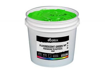 (Pint) - Ecotex Fluorescent Green NP-Plastisol Ink for Screen Printing - Non Phthalate Formula - All Sizes (Pint)
