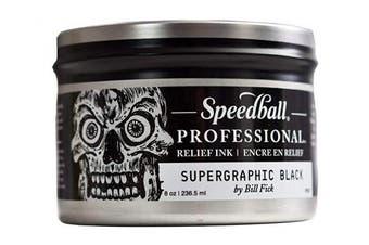 (240ml, Supergraphic Black) - Speedball 3940 Professional Relief Ink, Supergraphic Black
