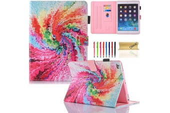 (#04 Rainbow Cake) - iPad Mini Cases and Covers, iPad Mini 4 Case - Dteck Smart PU Leather Magnetic Flip Stand Protective Case, Auto Wake Sleep, Card Slot & Stylus Pen Holder, Rainbow Cake