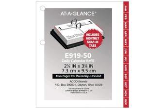 (1) - AT-A-GLANCE 2019 Daily Desk Calendar Refill, 7.6cm x 7.6cm - 1.9cm , Pocket Size 2, Loose Leaf (E91950)