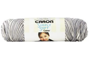(Snow Camo) - Caron 29401111005 Simply Soft Camo Yarn, 120ml, Snow Camo, Single Ball