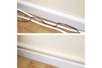 (Medium, Beige) - D-Line Cable Raceway On-Wall Cord Cover Beige   100cm Medium Size Channel to Hide and Conceal Cords, Cables, or Wires   Cable Management   3cm (W) x 1.5cm (H)