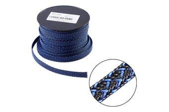 (1.9cm -30m, Blackblue) - 30m - 1.9cm PET Expandable Braided Sleeving – BlackBlue – Alex Tech Braided Cable Sleeve