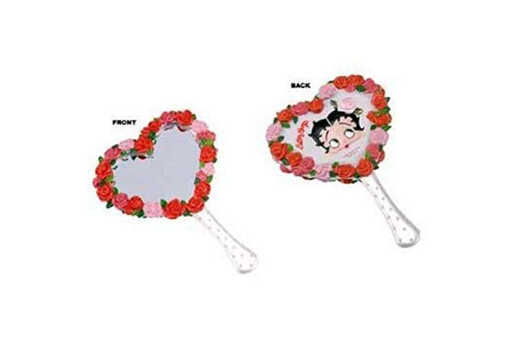"""Betty Boop Bath Mini Hand Mirror """"Bed Of Roses"""" Style"""