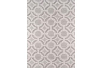 (0.6m x 0.9m, Ivory) - Momeni Rugs GEO00GEO22IVY2030 Geo Collection, Hand Hooked Contemporary Area Rug, 0.6m x 0.9m, Ivory