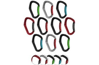 (Multi-coloured) - BB Sport Material carabiner in 10 pieces - Carabiner Clips for Outdoor, Camping, Keychain Clip