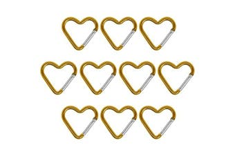 (yellow) - BB Sport Material carabiner in 10 pieces - Carabiner Clips for Outdoor, Camping, Keychain Clip