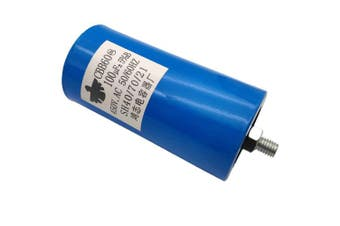 ALLMOST New CBB60 Run Capacitor 100uF 250VAC 250V AC 450V AC 50/60Hz Blue UL Listed W/Fixing Stud