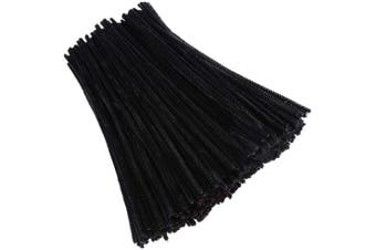 Caydo 400 Pieces Black Pipe Cleaners Chenille Stems Halloween Chenille Stems for DIY Art Craft Decorations, 6mm x 12inch